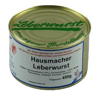 Hausmacher Leberwurst Metzgerei Appel
